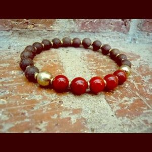 Customizable Chakra Men's Lava Bracelet